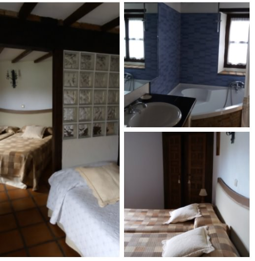 Habitación para familias en Posada El Cuadrante en Somo