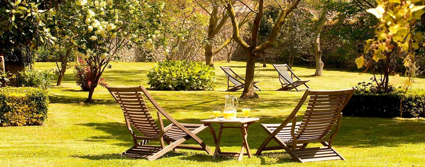 Jardín,Posada El Cuadrante en Somo.Cantabria