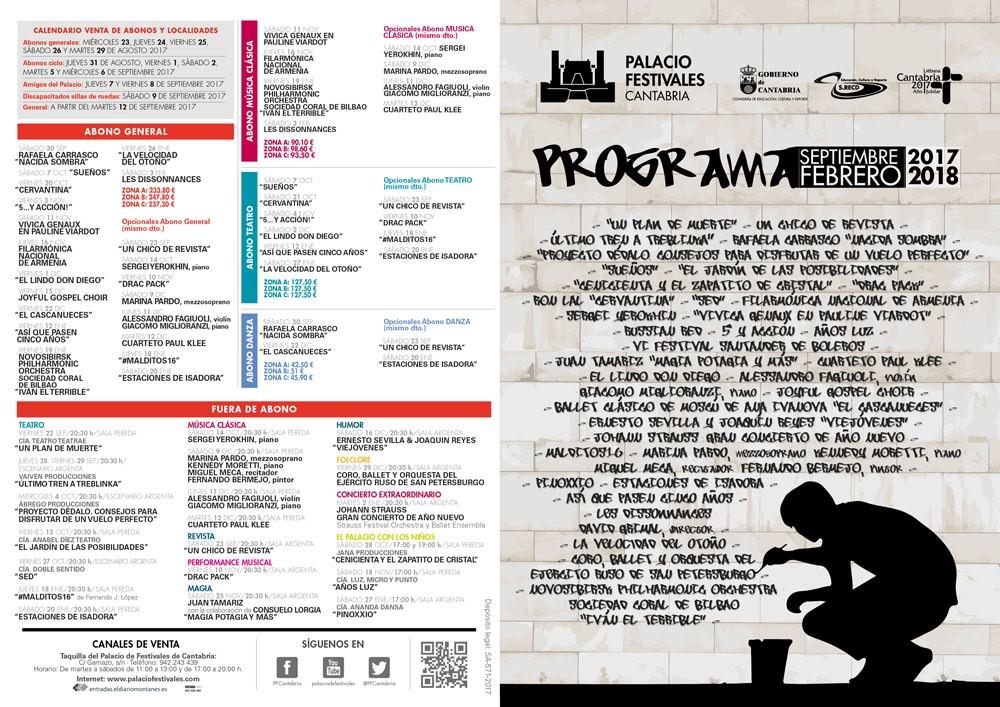 Programación Palacio de Festivales en Santander.